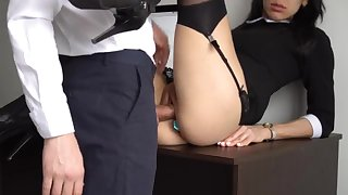 Ass Fucking Internal Ejaculation For Gorgeous Super-Bitch Assistant, Chief Smashed Their way Cock-Squeezing Cooter Plus Culo!