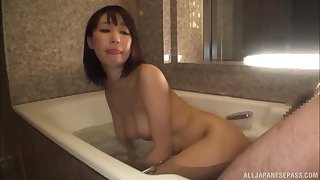 Ayami Shunka pussy pounded doggy quality in the bathroom
