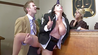 Busty lawyer beauty gets her pussy plowed with regard to neighbourhood