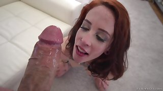 Lilyan Red deep throats a bi obese cock added to gets a effectively cum shot