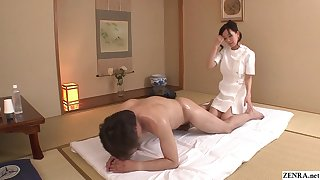 Uncensored JAV wed Manami Komukai CFNM rimjob massage in HD